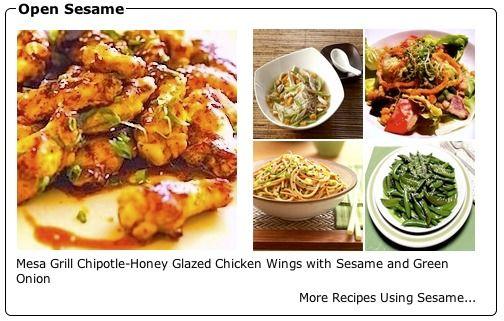Recipe Collection: Open Sesame (recipes using sesame) - Recipelink.com