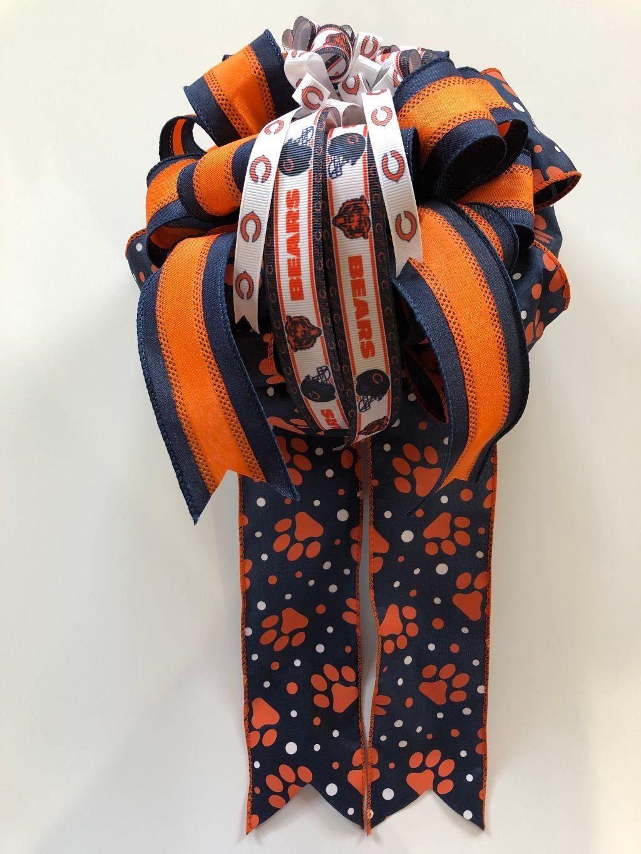 Chicago bears football gift bow for gift box gift basket