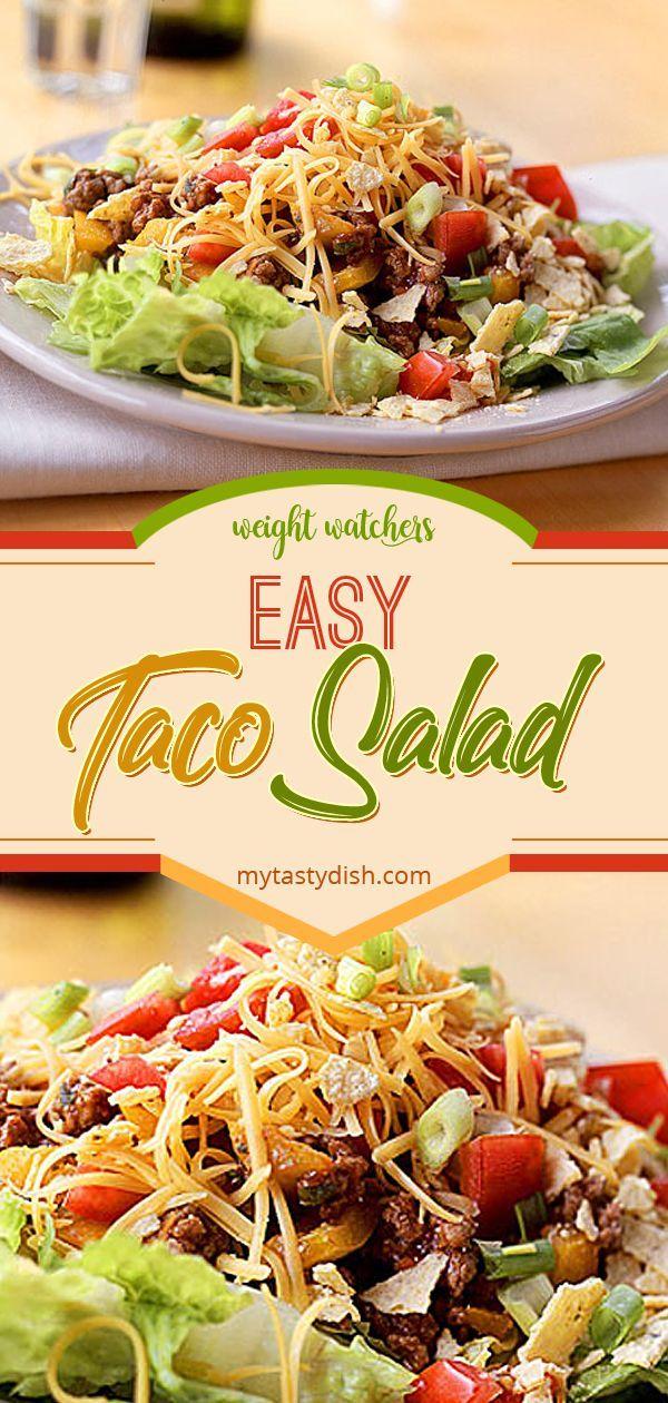 Easy Taco Salad #tacosalad