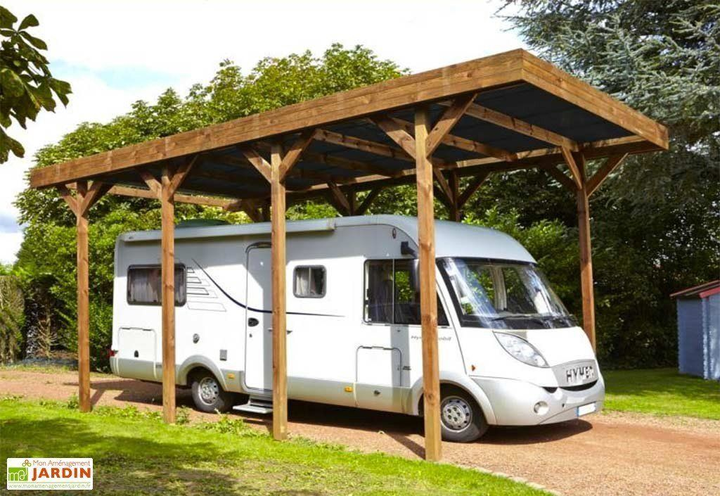 Carport CampingCar Bois Traité Autoclave (802x404) en