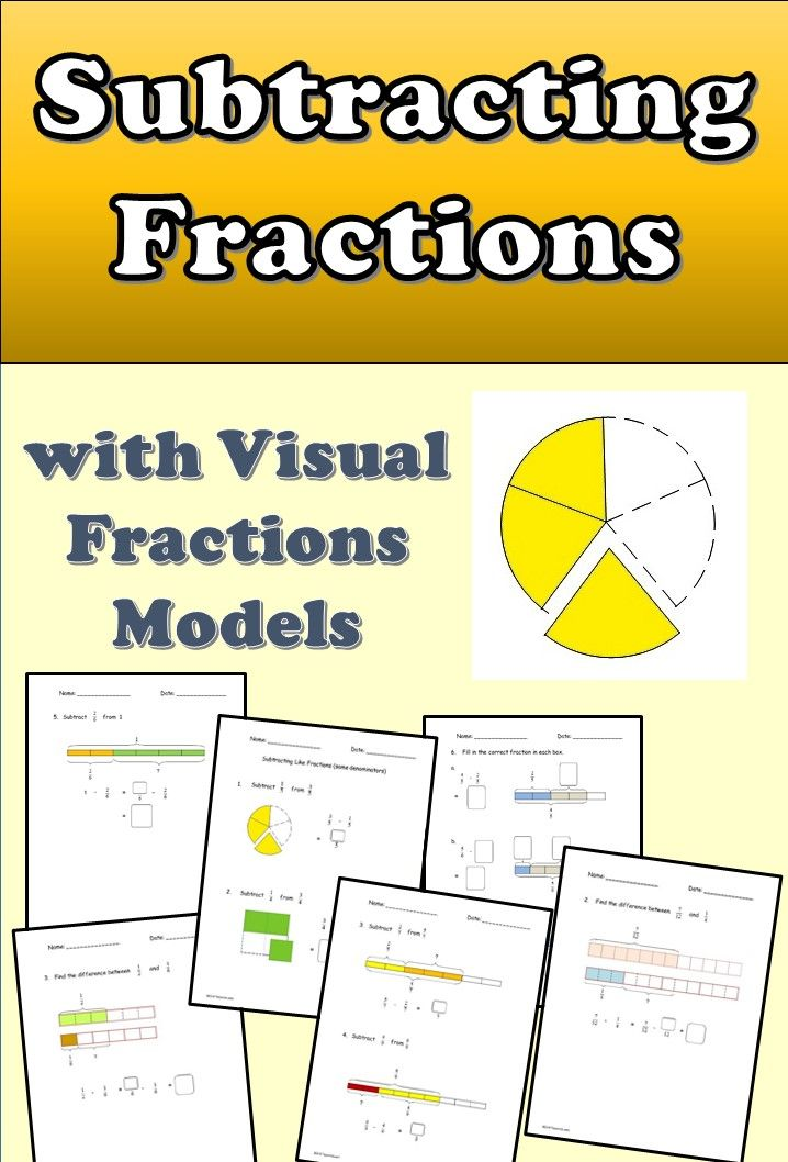 Fractions Worksheets To Practice Subtracting Fractions Learn To  Fractions Worksheets To Practice Subtracting Fractions Learn To Subtract  Like And Unlike Proper Fractions With Visual Fraction Models