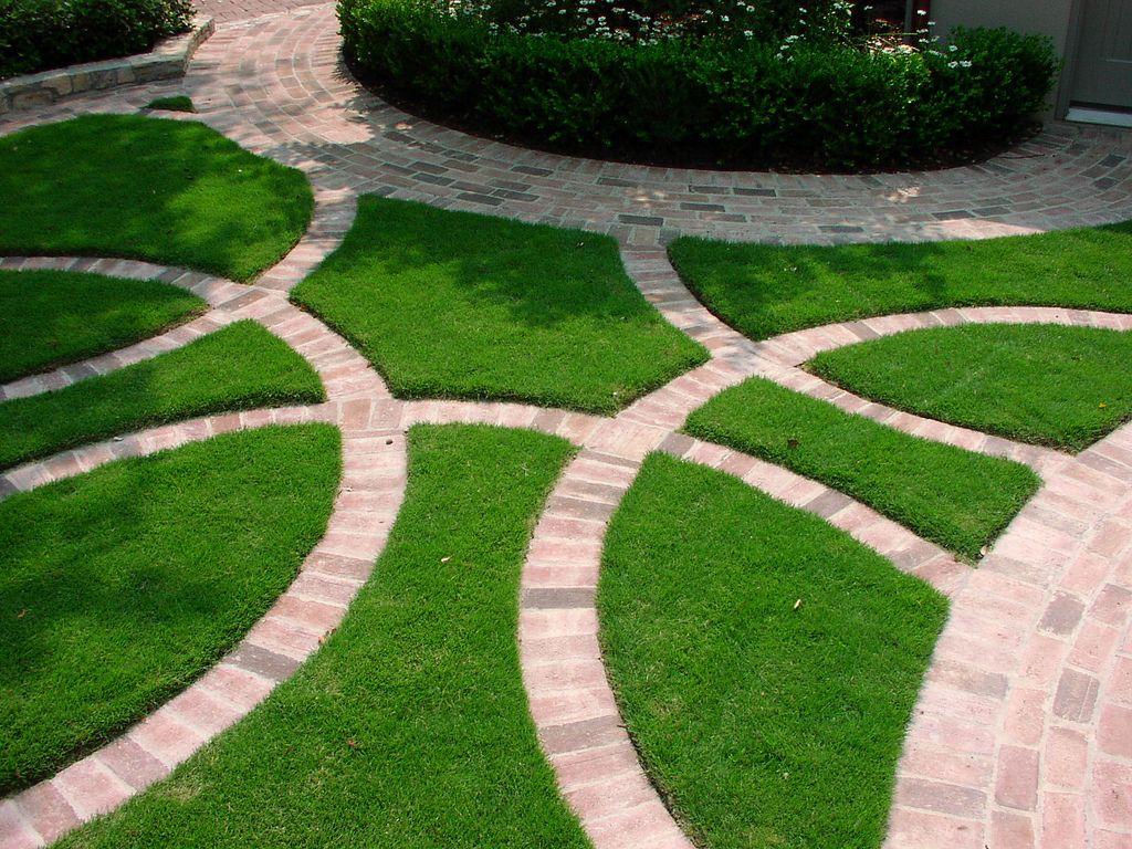 Radial Brick Border Installing Artificial Turf Brick Border Garden Design