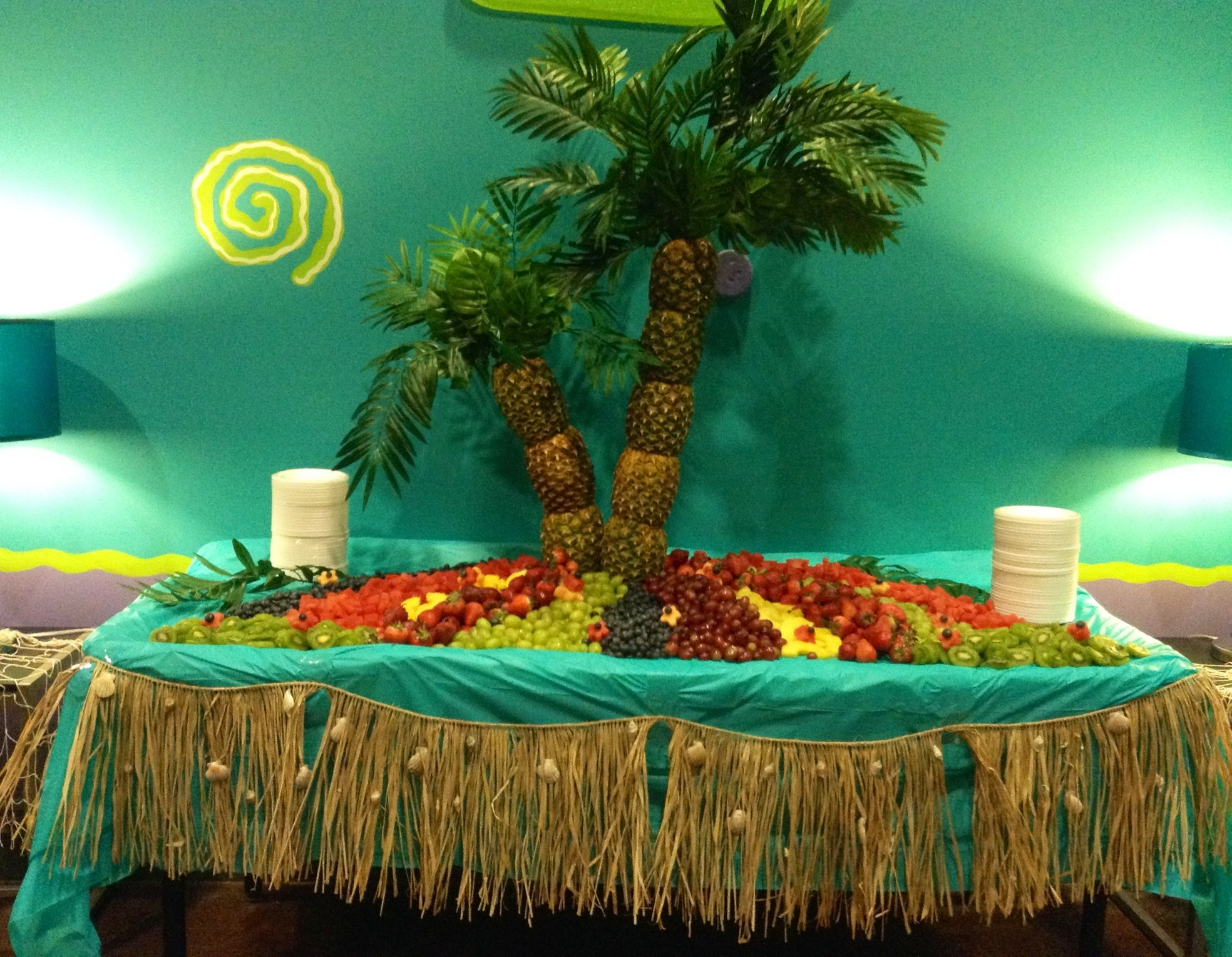 Tropical Fruit Platter For A Beach Wedding: Beach Theme Wedding Fruit Display!