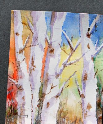 Birch Watercolor Watercolor Trees Tree Painting Tree Art