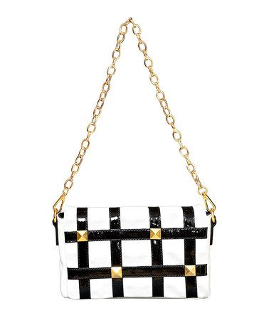 Take a look at this Elise Hope Black & White Convertible Clutch by Elise Hope on #zulily today!