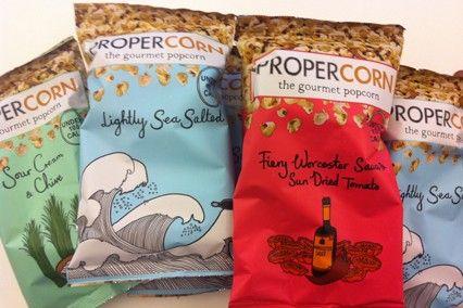 Propercorn packaging design