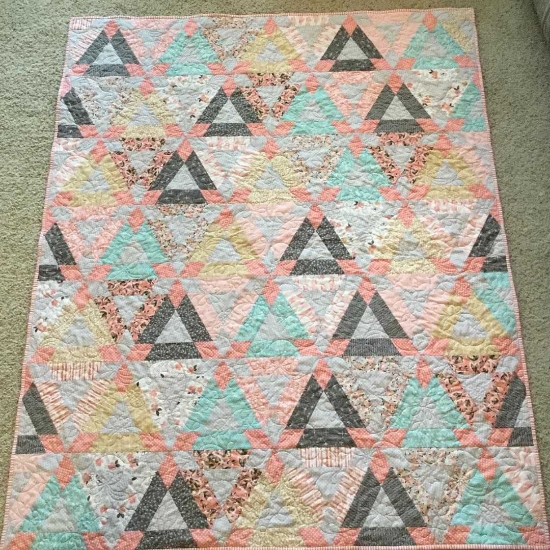 Handmade Baby Quilt Pattern Is Hopscotch By Thimble Blossoms