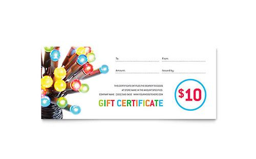 Christmas lights gift certificate template templates pinterest christmas lights gift certificate template yelopaper Images