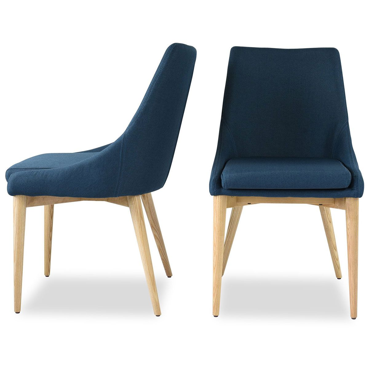 Edloe Finch Ef Zx Dc005b Jessica Dining Chair Blue Fabric On Oak Legs Set Of 2 Dining Chairs Contemporary Dining Chairs Upholstered Dining Chairs