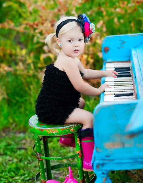 Girl playing music piano photography