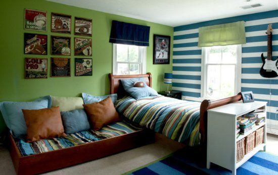 Jugendzimmer Für Jungen, Wanddeko Und Farbe