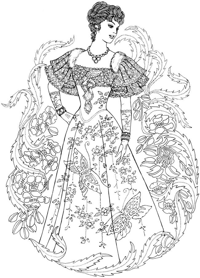 Creative Haven Art Nouveau Fashions Coloring Book Welcome to Dover ...