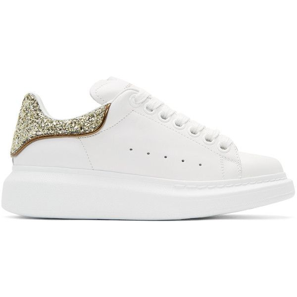Gold Glitter Oversized Sneakers