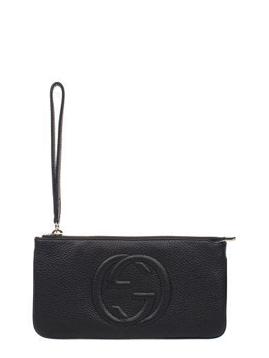 451e8eb1d45b GUCCI Black Soho Hammered Leather Clutch. #gucci #bags #leather #clutch  #hand bags #