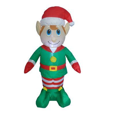 The Holiday Aisle Christmas Inflatable Elf Christmas inflatables