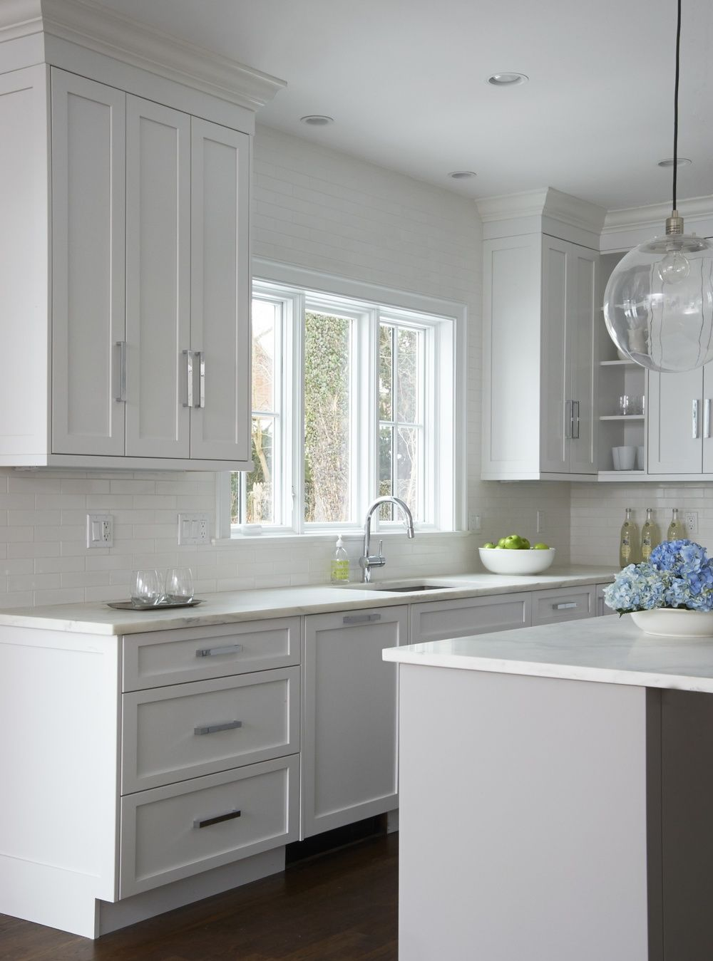 WHITE KITCHEN WITH GREY ISLAND DEXTER ROAD | WESTPORT, CT CALLA ...