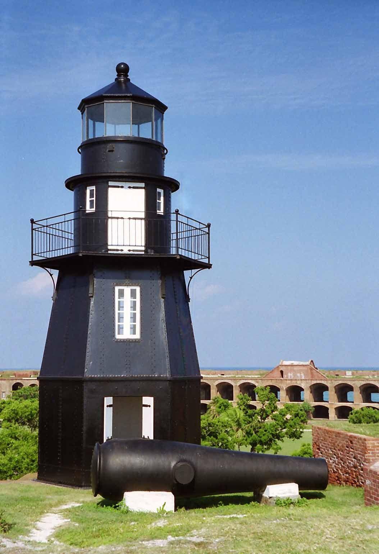 Garden Key Lighthouse, Fort Jefferson, Florida. Dry