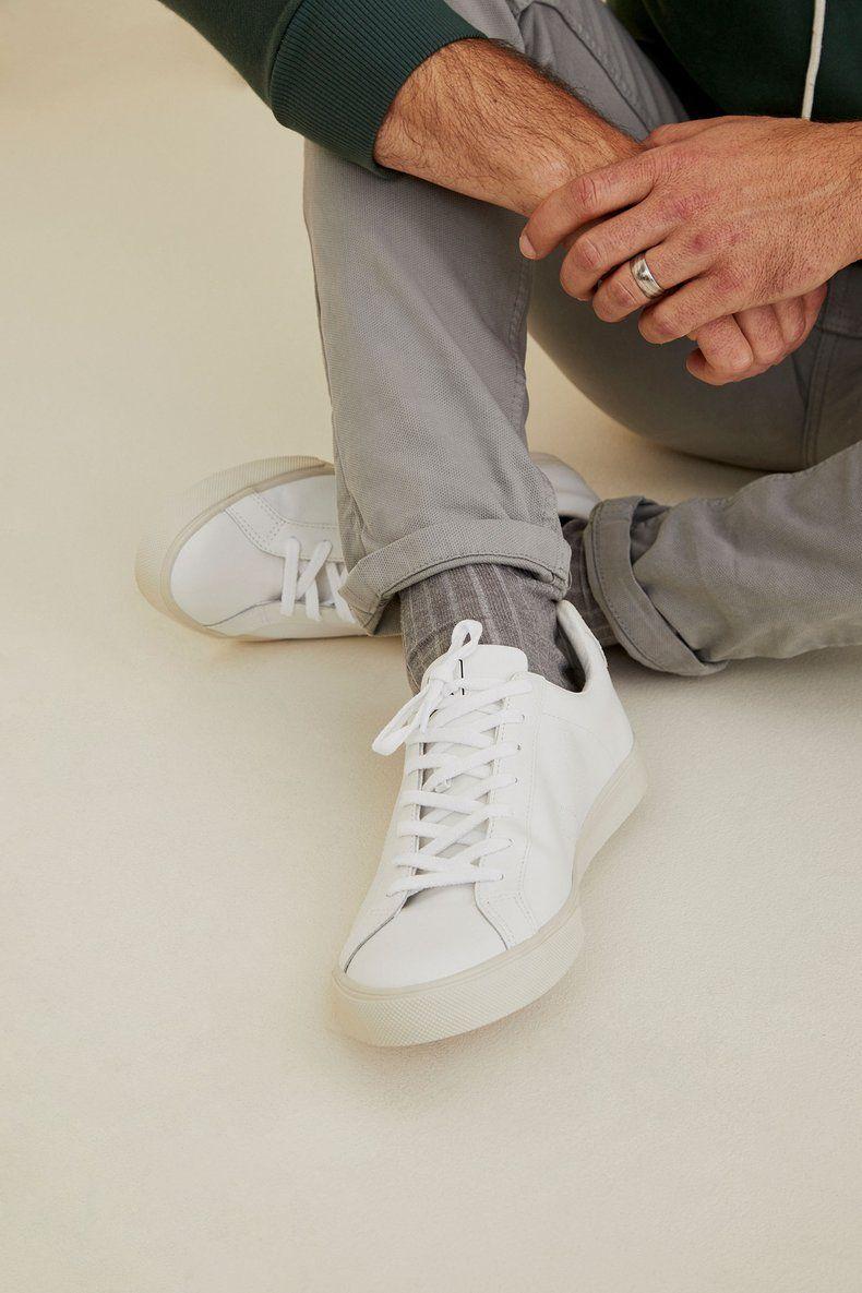 Esplar Leather Sneaker (White) – Men