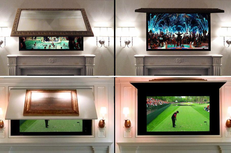 4 Cool Ways To Make Your Flat Screen Tv Practically Vanish Decor
