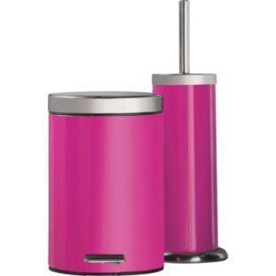 Buy ColourMatch Bathroom Bin & Toilet Brush Set - Funky ...