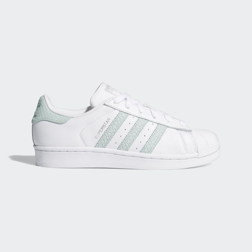 Superstar Shoes Cloud White Ash Green Silver Metallic