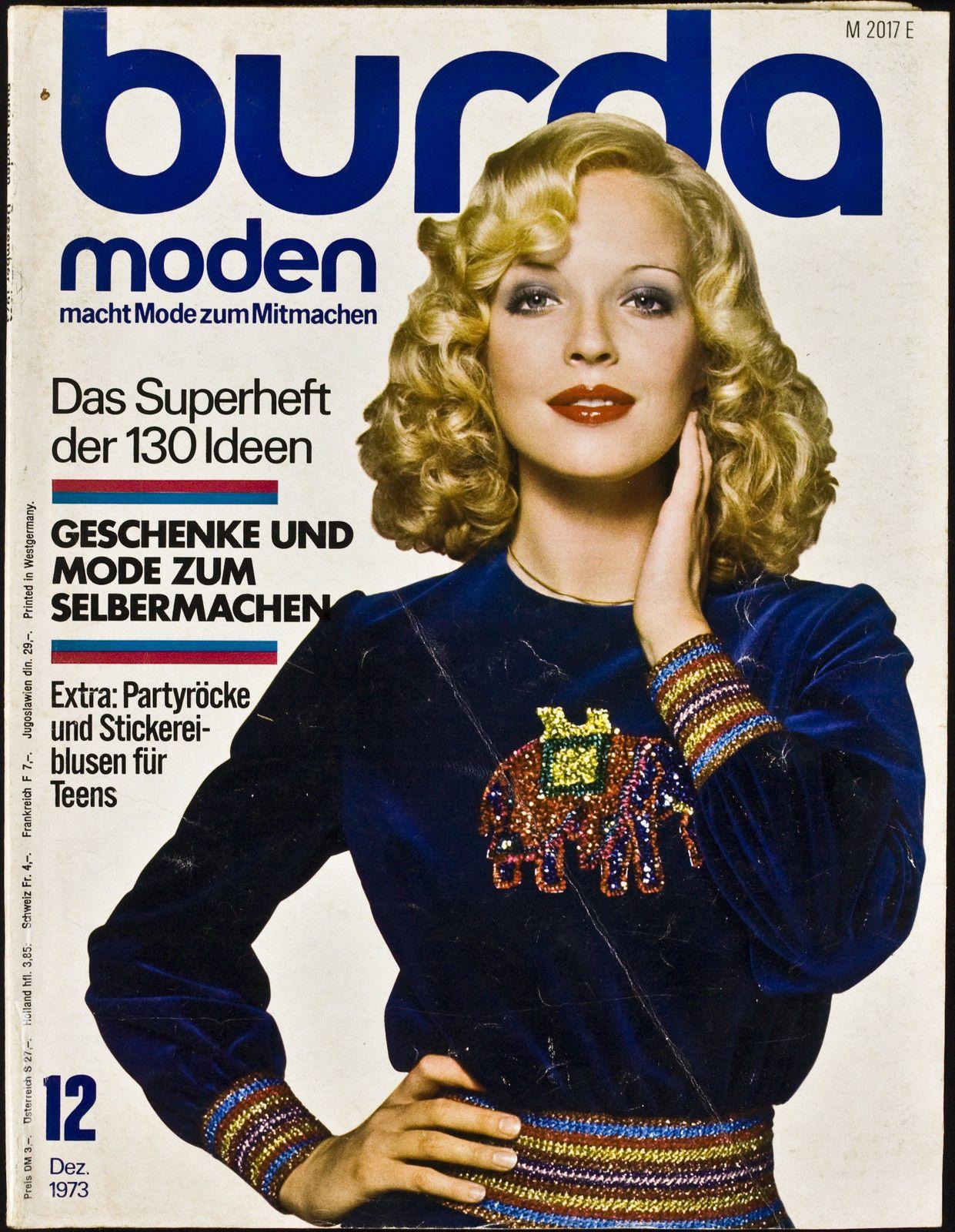 Burda Moden 12 1973 Party Rock Burda Mode Mode Zum Selbermachen