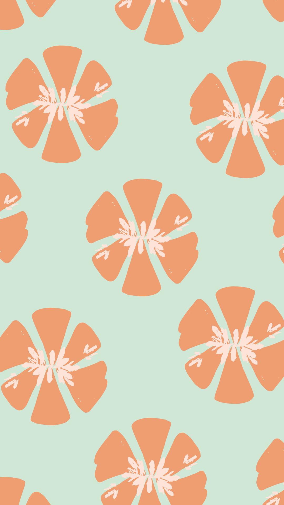 Floral Pastel Pattern Free Mobile Wallpaper Background Lock Screen Saver Aesthetic Iphone Wallpaper Pattern Cute Patterns Wallpaper Aesthetic Iphone Wallpaper