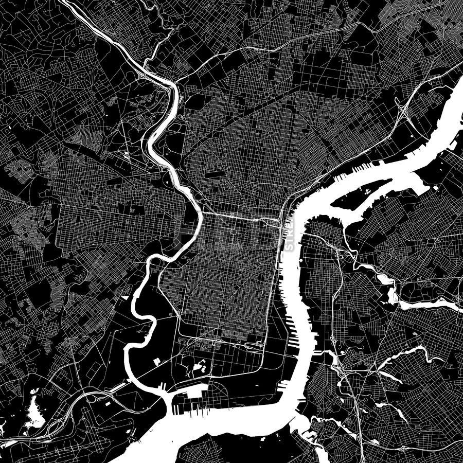 Philadelphia USA Download PDF Map Philadelphia USA