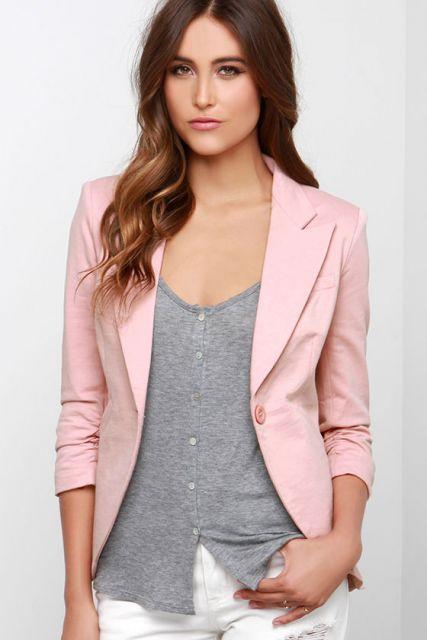 9530737039 blazer rosa tradicional