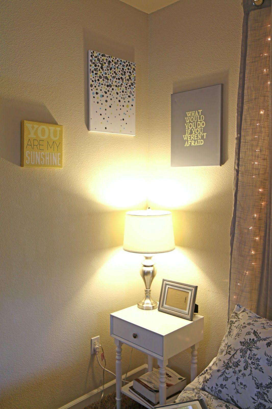 DIY light up headboard. Ideas for string light home decor | Home ...
