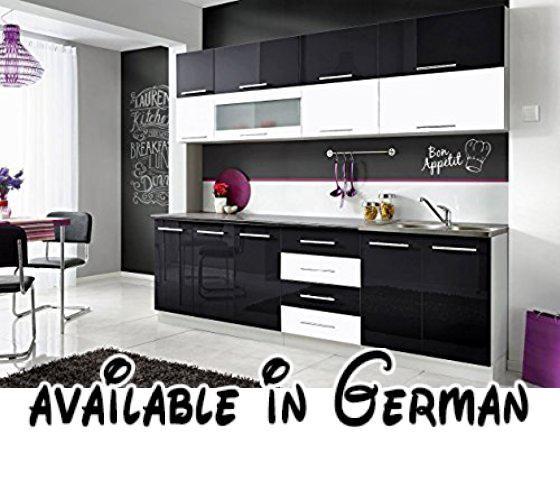B01H1I4PPO  Komplette Küche MONI N 260 cm verschiedene - küchenblock 260 cm