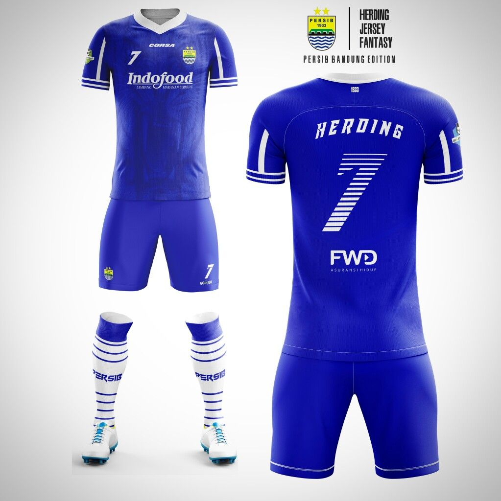 Download Jersey Fantasy Persib Bandung Sepak Bola Kaos Sepak Bola Kaos