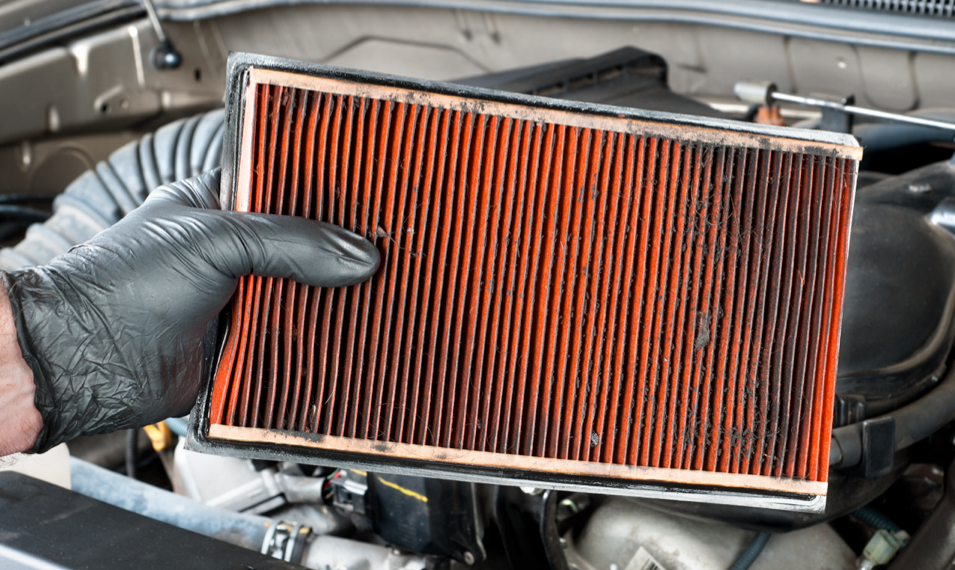 Airfilters A Filter That Is Clogged With Dirt Dust And Bugs Chokes Off The Air And Creates A Rich Mixture That Ca Car Air Filter Car Maintenance Car Care