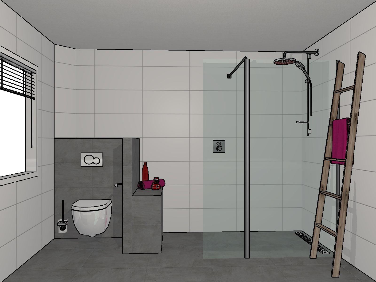 Een 3D badkamerontwerp gemaakt door Sanidrome Helmink in Doetinchem ...