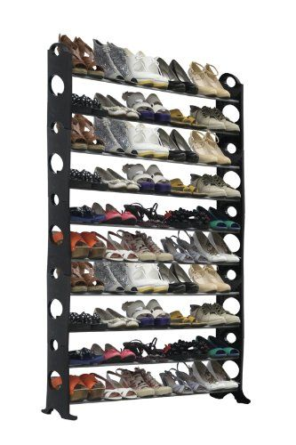 Delightful Amazon.com: Home Basics Shoe Rack, 50 Pair, Black: Home U0026 Kitchen