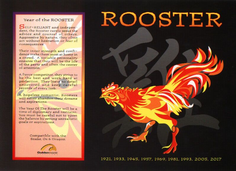10764f959 Evan: The Chinese Astrology: Chinese Horoscope Signs: The Rooster ...