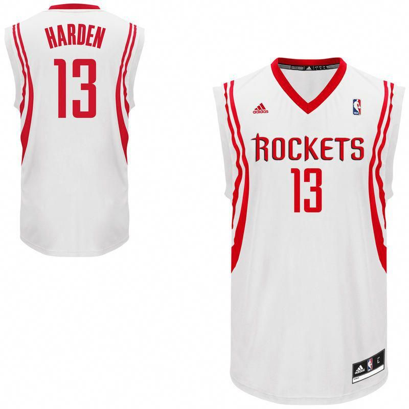 best loved d54bf 186a7 James Harden Houston Rockets adidas Replica Home Jersey ...
