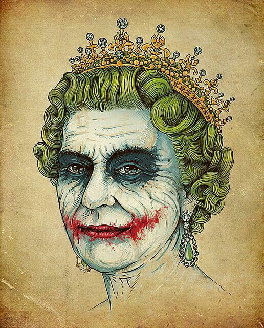 God save our holy Joker The royal madness