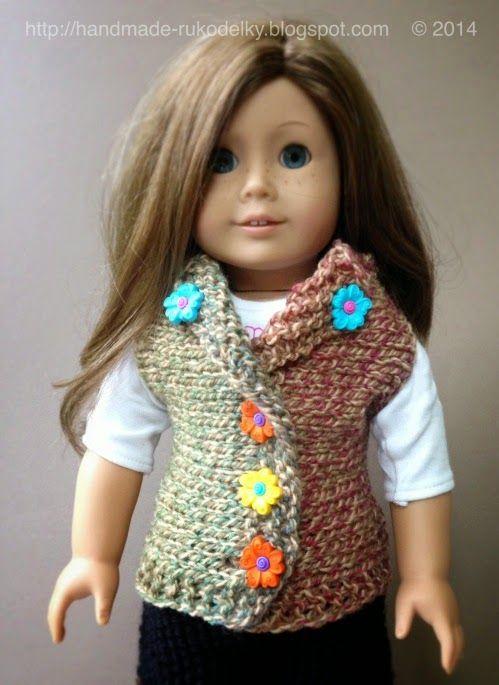MY HAND MADE STUFF - MOJE RUKODELKY: Knitted Vest For American Girl ...