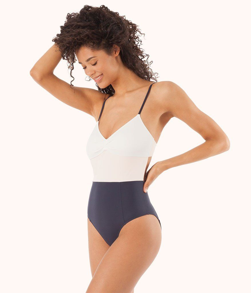 11166007b8a46 The One Piece - Colorblock  White Pink Soft Navy