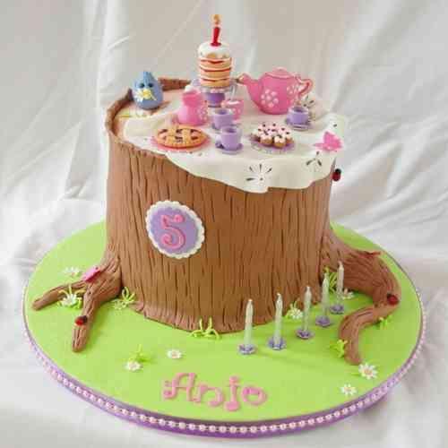 gâteau anniversaire pour enfants - 110 idées inspirantes   tronc