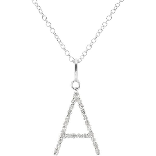 Ewa adams 9ct white gold diamond letter pendant a 345 liked ewa adams 9ct white gold diamond letter pendant a 345 liked on aloadofball Images