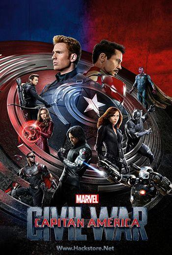 Poster De Capitan America Civil War 2016 Dvdrip Latino Civil War Poster Captain America Civil Marvel