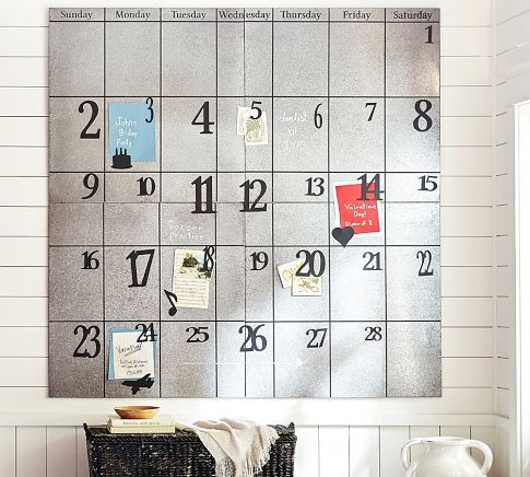 Wall Calendar From Pottery Barn Galvanized Metal