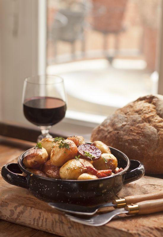 Receta 234: Patatas con chorizo y bacon » 1080 Fotos de cocina ...