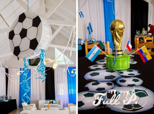 Resultado de imagen para fiesta temática de futbol