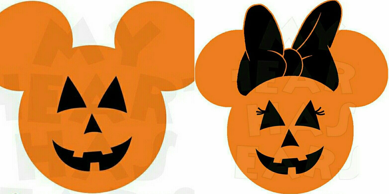 Jack-O-Lantern Pumpkin Mickey and Minnie Mouse | Mickey and Minnie ...
