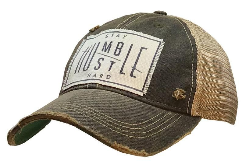 Stay Humble Hustle Hard Distressed Trucker Hat Baseball Hat Etsy Trucker Cap Trucker Hat Womens Baseball Cap