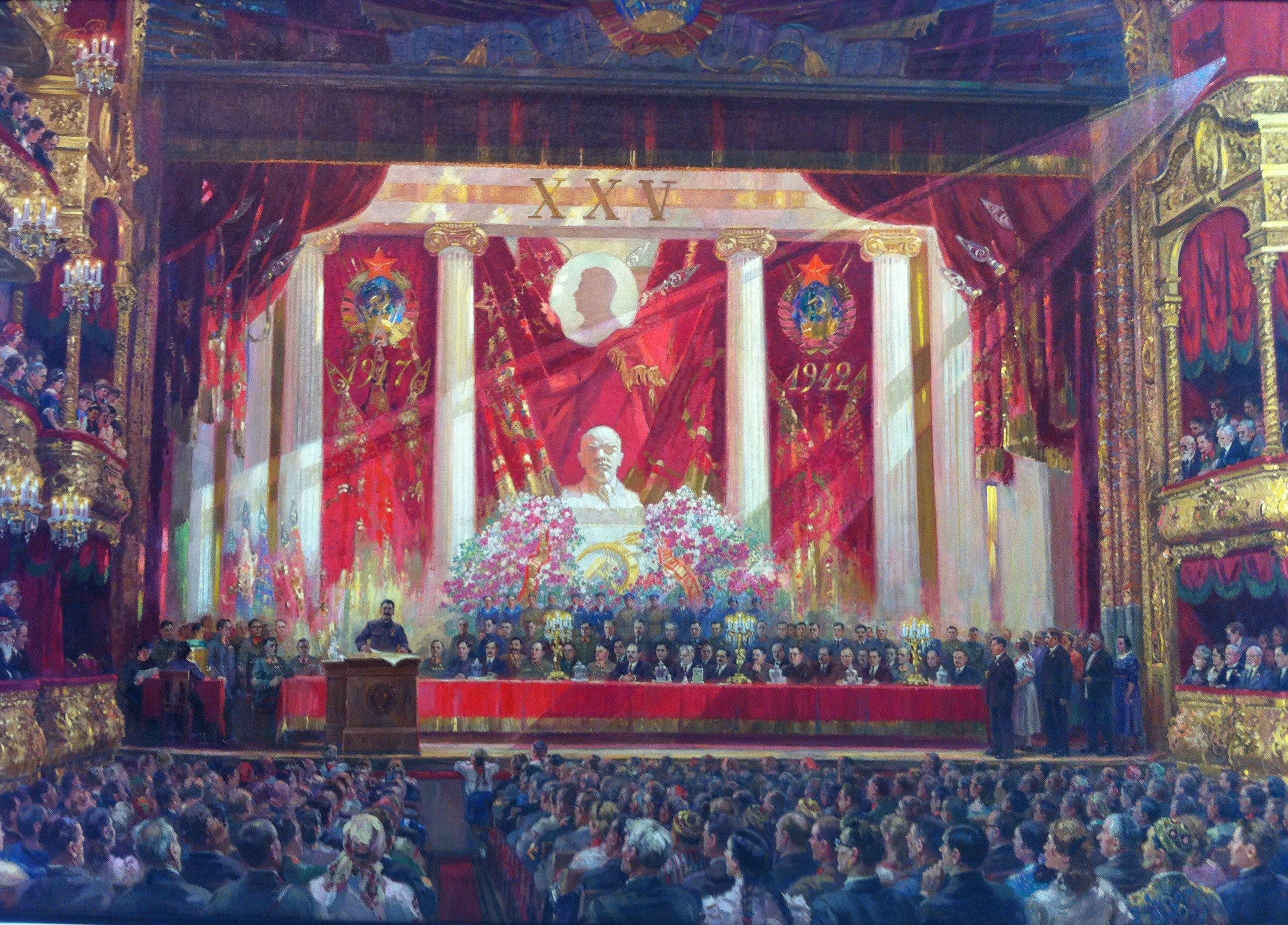 Aleksandr Michajlovitsj Gerasimov Lofzang op Oktober - 1942 Bolshoj Theater Moskou  (Sovjet Mythe Assen)