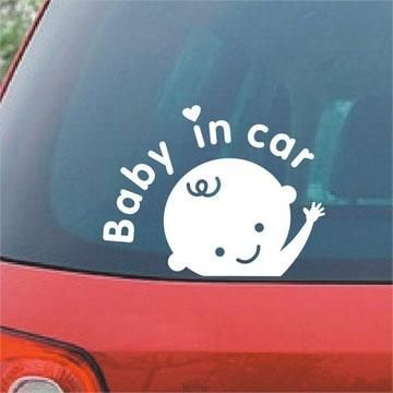 New Fashion Baby In Car Sticker Reflective Personalized Car Letter - Personalized car stickers and decals